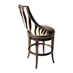 Ambella Home Zebrano Swivel Bar Stool A Touch Of