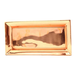 Old Dutch - Old Dutch Heavy Gauge Decor Copper Rectangular Tray - 21 in. Multicolor - 265 - Shop for Ladders from Hayneedle.com! Your delicacies will seem even more special when you serve them on the Old Dutch Heavy Gauge Decor Copper Rectangular Tray - 21 in.. Crafted by skilled artisans the heavy gauge construction and tarnish-resistant finish means years of beautiful use for your parties and special events.About Old Dutch InternationalFamous for their copperware Old Dutch International Ltd. has been supplying the best in imported housewares and giftware to fine retailers throughout America since 1950. They offer a large assortment of housewares including bakers racks trivets and pot racks in materials like chrome colorful enamel and stainless steel. Other product lines include wine racks serving trays specialty cookware clocks and other home accessories. Old Dutch warehouses and distributes their products from a 30 000 square foot facility in Saddle Brook N.J.