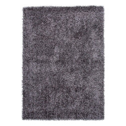 Jaipur Rugs - Shag Solid Pattern Polyester Gray/ Area Rug (2 x 3) - Personal expression reaches new heights with flux, a beautiful range of plush, hand-woven shag rugs of 100% polyester. This chameleon is ideal for the contemporary design lover who enjoys mixing up his or her personal space often acting as a rich background to a diverse palette of furnishings and accessories. Highly textured shag construction brings comfort underfoot while a palette of fashion forward solid hues commands attention in any room.