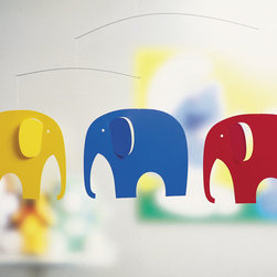 Flensted Mobiles - Elephants Mobile in Primary - Elephants Mobile in Primary