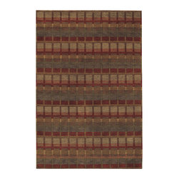 """Couristan - Pokhara Symmetry Rug 9378/1064 - 5'6"""" x 8' - This collection of elegant silk-like finishes works well in both formal or casual settings. Pull out one or more of the colors within the area rug to add a bit of drama to your setting."""