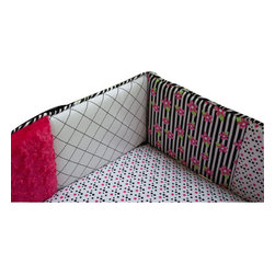 Trend Lab - Trend Lab Zahara Crib Bumper - The Zahara Crib Bumper by Trend, along with the Zahara bedding accessories.