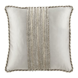 """Dian Austin Couture Home - European Sham with """"Eyelash"""" Center Silk Sides & Cording - PEWTER (EUROPEAN) - Dian Austin Couture HomeEuropean Sham with """"Eyelash"""" Center Silk Sides & CordingDetailsBy Dian Austin Couture Home . Made of polyester/viscose.Enhanced with """"eyelash"""" detailing and touches of silk and velvet.Dry clean.Handcrafted in the USA of imported materials. Designer About Dian Austin Couture Home:Taking inspiration from fashion's most famous houses of haute couture the Dian Austin Couture Home collection features luxurious bed linens and window treatments with a high level of attention to detail. Acclaimed home designer Dian Austin introduced the collection in 2006 and seeks out extraordinary textiles from around the world crafting each piece with local California artisans."""