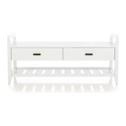 Boardwalk White Bench -