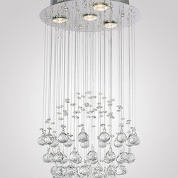 Luxury Rain Drop Crystal Pendant Lighting - This luxury rain drop crystal pendant light displays a fantastic design and is beautifully dressed with multiple strands of crystal spheres. The brilliant crystal texture make it a splendid focal point, perfect for entryways, living rooms or foyers and more.