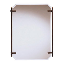 "WESTWOOD - WESTWOOD 41055OLZ Polygon Transitional Mirror - As a match to the 5104 OLZ Beautywrap bathroom fixture, purchase this fine Oiled Bronze beveled mirror to complete a uniform look for your Beautywrap lighting system. It measures 24 ½"" wide by 32"" high."