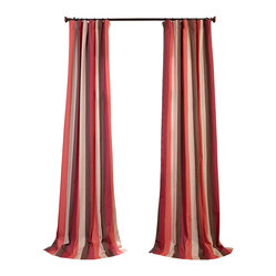 Picante Stripes Printed Cotton Curtain