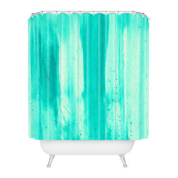 DENY Designs - Madart Inc Modern Dance Aqua Passion Shower Curtain - Who says bathrooms can't be fun? To get the most bang for your buck, start with an artistic, inventive shower curtain. We've got endless options that will really make your bathroom pop. Heck, your guests may start spending a little extra time in there because of it!