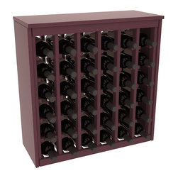 Wine Racks America - 36 Bottle Deluxe in Ponderosa Pine, Burgundy Stain + Satin Finish - Great start or addition to wine rack furniture, this wooden wine rack is designed to look like a freestanding wine cabinet. Solid top and side enclosures promote the cool and dark storage area necessary for aging your wine properly. Your satisfaction and our racks are guaranteed.