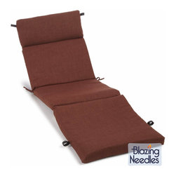 Blazing Needles - Blazing Needles Earthtone 72-inch Spun Poly Outdoor Chaise Lounge Cushion - Add a touch of style and comfort to your outdoor furnishings with this outdoor chaise lounge cushion. This cushion offers attached fabric fasteners for stability and a durable spun polyester cover construction.