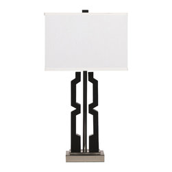 """Signature Design by Ashley - 29"""" Set of 2 Mitzi Table Lamps Black/Silver - A set of two modern black and silver table lamps from Famous Brand Lighting"""