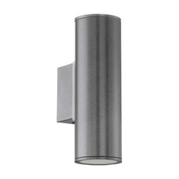 Eglo - Riga 2-lt Outdoor Wall Lamp, Anthracite - Riga 2 Light Outdoor Wall Lamp in White Finish or in Anthracite Finish. Features: Finish: White or Anthracite, ADA compliant. Lamping: Halogen: 2 x 50W GU10 (Not Included).