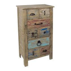 Lewiston Rustic 5 Drawer Different Hardware Tall Chest - Lewiston Rustic 5 Drawer Different Hardware Tall Chest 22 x 14 x 41 Accent Furniture ETA Shipping Early December 2013 22 x 14 x 41