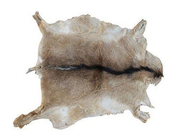 Used Vintage Moroccan Goatskin - Get your rustic chic on with this vintage Moroccan goatskin. This incredible organic goat hair and leather is sure to enhance any kind of decor!