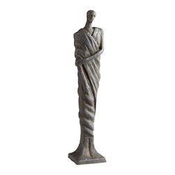 Cyan Design - Mykos Male Sculpture - Mykos male sculpture - rustic bronze.