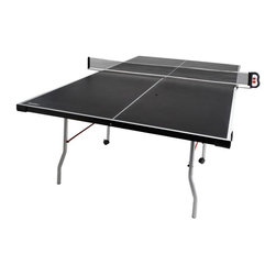 Franklin Sports - Franklin Curved Leg Table Tennis Table Multicolor - 7212E2 - Shop for Table Tennis and Foosball from Hayneedle.com! Great for the family and great for space saving the Franklin Curved Leg Table Tennis Table will add to the fun of game night. Boasting an electronic wireless scoreboard with (2) remote control scoring the rivalries are sure to draw a crowd. The tabletop finished in black is constructed from durable engineered wood along with a robust 1.25-inch curved metal leg design and L-style aprons for added stability and support - this unit was deigned to last for years to come. It also folds up for one-person playback mode as well as easy storage and smart transporting with the easy-rolling and lockable 2-inch casters. About Franklin SportsBrothers Irving and Sidney Franklin founded Franklin Sports in 1946 to produce youth sporting goods products eventually branching into other product lines. One of these popular lines includes their arcade-style gaming tables which re-create popular arcade games in a tabletop design perfect for any room of your home. Well-known and respected around the world as makers of high-quality sporting goods Franklin Sports provides creative products sure to please any sports lover.