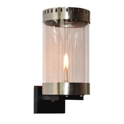 The CopperSmith - Orlando Gas Lantern by The CopperSmith OR-18, Nickel, Natural Gas - New fresh contemporary design in Gas by The CopperSMith.  Orlando is available is 2 finishes, Nickel and Graphite, and in Natural Gas and Propane.
