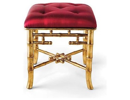 Traditional Ottomans And Cubes by Gump's