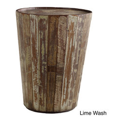 Kosas Collections - Hamshire Barrel Side Table - Lend rustic style to your decor with this distressed barrel side table. Crafted from reclaimed wood for a natural appearance, this unique table is ideal for keeping a few books or a cup of coffee handy. It will look great in any indoor area.