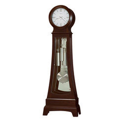Howard Miller - Howard Miller Gerhard Grandfather Clock in Chocolate Finish - Howard Miller - Grandfather Clocks - 611166 - For over 70 years Howard Miller has understood the need to create products that are steeped in quality and value and to never expect anything less than the best. No matter the price of the purchase you have Howard Miller's assurance of quality that is reflected in both the products they create and in the people whose artistic talents they rely on to manufacture them. Incomparable workmanship. Unsurpassed quality. A quest for perfection.
