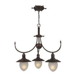 Vaxcel Lighting - Vaxcel Lighting CH25523 Orleans 3 Light One Tier Down Lighting Chandelier - Features: