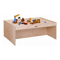 Jonti-Craft - Jonti Craft Activity Table with Lip - Generous table size allows enough room for connective activities such as trains and building.