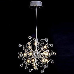 ceiling lights--lightsueprdeal.com - New High Quality Crystal Floral 15-Light Iron Chandelier