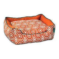 ez living home - Honeycomb Couch Bed Tangerine, Medium - *Aesthetically pleasing geometric pattern, EZ to decorate with, suitable for any style.