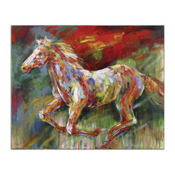 Uttermost - Wild Run Hand Painted Art - This vibrant, frameless, hand painted artwork is painted on canvas and then stretched and attached to wooden stretching bars. Due to the handcrafted nature of this artwork, each piece may have subtle differences.