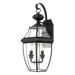 Quoizel - Quoizel NY8317Z Newbury Traditional Outdoor Wall Sconce - When it comes to curb appeal, outdoor lighting plays a large part in creating a special ambiance. The classic design and beveled glass of the Newbury gives the outside of your home a rich elegance, without making it look over-embellished. It's a versatile look that coordinates with most any architectural style.