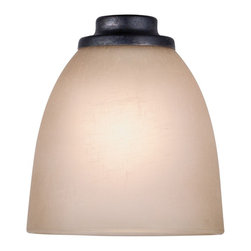 Golden Lighting - Hampden Birch Glass Shade - Bulb not included. Birch glass adds texture and warmth. Fitter hole: 1.5 in. - 1.75 in.. Shade: 5.25 in. Dia. x 5 in. H. Warranty