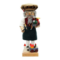 Alexander Taron Importer - Ulbricht Father Time Nutcracker - Limited Edition Multicolor - 0-472 - Shop for Holiday Ornaments and Decor from Hayneedle.com! A joyful addition to your holiday decor the Ulbricht Father Time Nutcracker - Limited Edition is rich in detail. This limited edition nutcracker is 1 in 1 000 -- literally! A welcome addition to your collection or holiday decor this Father Time is beautifully appointed and ready for display. It's an original design from Christian Ulbricht and a limited edition piece. It's handcrafted in Germany from solid wood and decorated with fabric clothing and incredibly detailed accessories. Your toymaker is dressed in a brown corduroy cap natural shirt and a red and green checked vest that sports gold buttons. In his dark green apron are wooden tools of his trade. Eyeglasses a gray beard mustache and hair plus hand-painted features bring your toymaker to life. In his hands you'll find detailed tools and a perfectly constructed tiny toy train. At his feet are beautifully crafted toys and even a pile of wood shavings. A charming addition to any collection the impeccable details and limited edition nature of this nutcracker ensures it will become an instant family heirloom.About Alexander Taron Inc.For more than half a century the Taron Company has been delighting customers and collectors with traditional European gifts. These exquisite hand-crafted products range from nutcrackers and incense burners to ornaments and cuckoo clocks; unique and collectible they make unforgettable gifts regardless the occasion. Originally founded in 1949 Alexander Taron remains dedicated to providing high-quality items at great value.