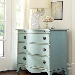 Harker's Island Serpentine Chest - This Somerset Bay chest comes in a variety of finishes.