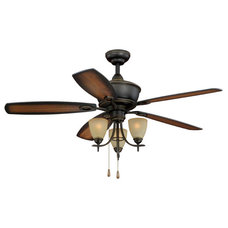 "Traditional Ceiling Fans Sebring Oil Rubbed Bronze 52"" Ceiling Fan"