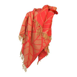 100% Merino Wool Throw Blanket NIC1033 Orange - Warm up in this cozy Blanket Throw. Wool is a natural temperature regulator, naturally hypoallergenic, naturally breathable and even improves sleep quality.