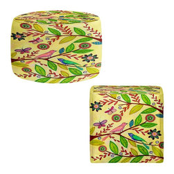 DiaNoche Designs - Ottoman Foot Stool by Sascalia - Sunny Day - Lightweight, artistic, bean bag style Ottomans. You now have a unique place to rest your legs or tush after a long day, on this firm, artistic furtniture!  Artist print on all sides. Dye Sublimation printing adheres the ink to the material for long life and durability.  Machine Washable on cold.  Product may vary slightly from image.