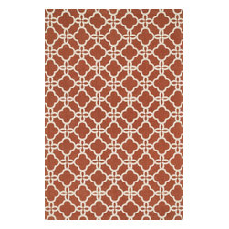 """Loloi Rugs - Loloi Rugs Geo Collection - Rust / Ivory, 7'-6"""" x 9'-6"""" - Bold geometric patterns and fun color combinations come together beautifully in Geo. Printed on a cotton surface in India, Geo's designs offer eye-catching appeal, while its 100% cotton material keeps the look simple and casual - great for today's modern living rooms, dining areas, or kid's room."""