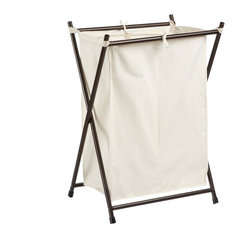 Bronze Double Folding Hamper - I've always just used a regular ol' plastic hamper, but I'd really like to switch to one that has two compartments. I think it'd be a lot easier come laundry day if I were able to separate my clothing in each of the compartments throughout the week, versus all at once.