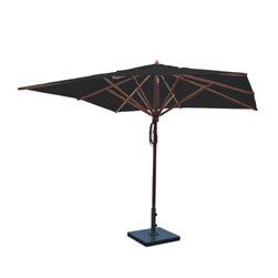 Greencorner - 10'x10' Mahogany Umbrella, Black - 10'x10' Square