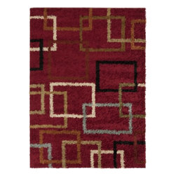 "Surya Rugs - Rosario Plush Maine Made 100% Polypropylene Red Rug RSO-4601 - 100% Polypropylene. Style: Plush. Rugs Size: 2'7"" x 7'3"". Note: Image may vary from actual size mentioned."
