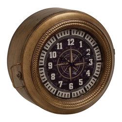 Unique and Classy Metal Wall Storage Clock - Description: