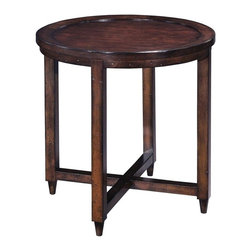 "EuroLux Home - New Woodbridge Havana Side Table Round 27"" - Product Details"