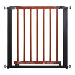 Dreambaby - Dreambaby Windsor Gate- Charcoal - No tools required! This pressure mounted gate is an easy install and easy on the eyes. With a double locking system for added security, and the ability to expand wider with extensions, your children and pets will be reigned in beautifully.