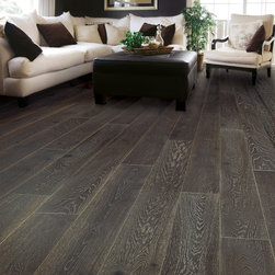 """Urban Floor Villa Caprisi Pompeii 5/8"""" Engineered Wood Floor - Villa Caprisi is inspired by the world renowned Italian design and flair. Ultra wide and extra long planks, this distinctive collection is made from European white oak and offered in a brushed finish. Whether in the hand ground or smooth texture, stained or smoked finish, every piece is crafted by hand, creating a totally unique look with no repetition from plank to plank."""