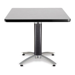 OFM - OFM 36 Square Mesh Base Multi-Purpose Table, Gray Nebula - This 36 square table looks elegant in both lunch and meeting rooms and looks great with the model 310 stack chairs. The banding makes the edges smooth and gives it a finished appearance. The honeycomb core makes the table both lightweight and sturdy.