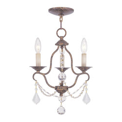 Livex Lighting - Chesterfield 3 Light 1 Tier Mini Chandelier - Venetian Golden Bronze - Livex Lighting is a manufacturer and distributor of decorative residential lighting. Their company was founded in 1993 and is now headquartered in a 150,000 square foot facility in Morristown, New Jersey. Livex Lighting currently offers over 2,500 products ranging from lighting fixtures for indoor and outdoor applications to lampshades, chandelier shades, ceiling medallions and accent furniture.