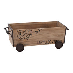 None - Unique Home Accents Wood Metal Cart - Add a rustic touch to your home office or den with this classic table-top statue. Reminiscent of days gone by, this wood and metal decorative piece is sure to bring a touch of nostalgia to your living space.
