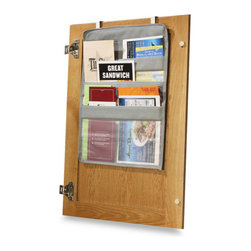 """Over-the-Cabinet-Door Coupon Pockets - Everyone has a """"junk drawer"""" in the home somewhere — mine is in my kitchen. It's where flyers for new restaurants, take-out menus and appliance manuals go. This over-the-door pocket tucks away and puts these things at arm's reach and out of sight at the same time."""
