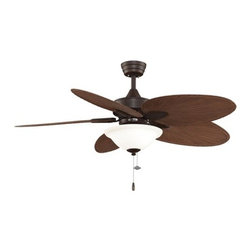 "Fanimation - Fanimation FP7500P4LK Windpointe 52"" 5 Blade Ceiling Fan - Blades & Light Kit - Included Components:"