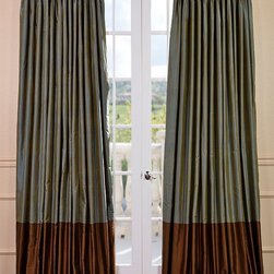 Create Your Own Banded Thai Silk Curtain - The Banded Thai Silk curtains & draped are the perfect combination of sophistication & style. This is a design that can easily transition into any décor whether your home is classic & traditional or modern & contemporary.